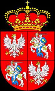 Abiejų Tautų Respublikos herbas. Autorius: Olek Remesz.. Based on GFDL picture Herb Obojga Narodow.PNG, CC-BY-SA-3.0 via Wikimedia Commons
