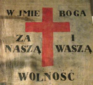 """Sztandar """"Za Naszą i Waszą Wolność"""", 1831 r."""