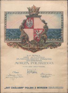 Akt zaślubin Polski z morzem.